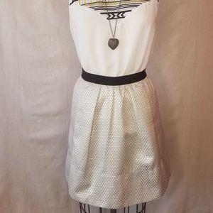 Ganni For Anthropologie Metallic Brocade Skirt